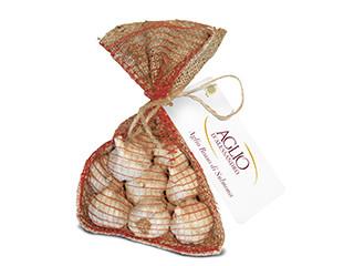 Aglio rosso di Sulmona in sacchetti di juta